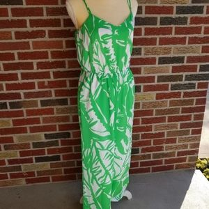 LILLY PULITZER Collab Small Jumpsuit Green NWT